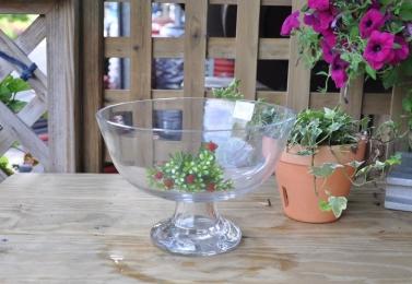 酒杯形玻璃花器     K967