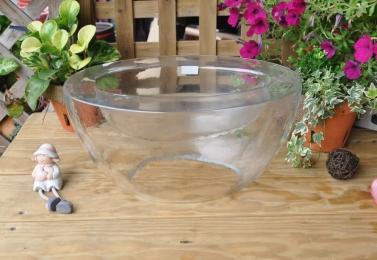 雙層元寶造型玻璃花器  HP2304
